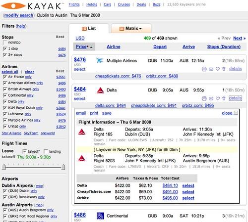 Kayak.com: DUB-AUS
