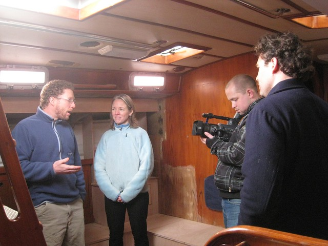 interview on the boat