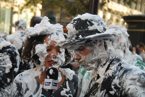 Pie fight at powell