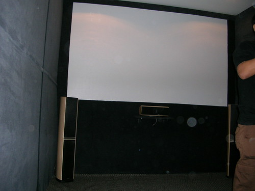 AV room projector screen
