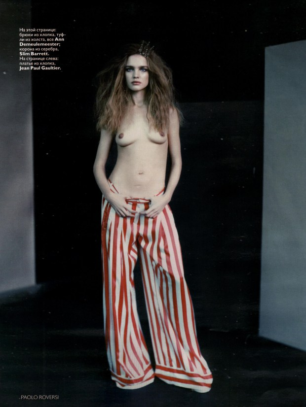 Natalia Vodianova in Russian Vogue March 2008