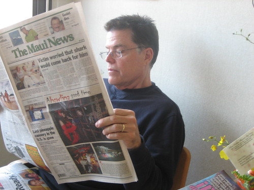 dad reading our article