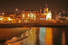 Cascais Bay at night