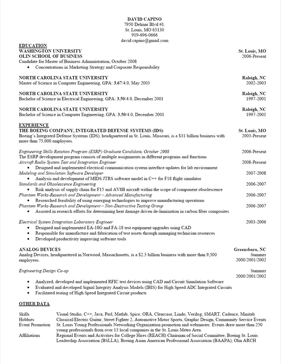 Quick Resume of TCMC   quick resume
