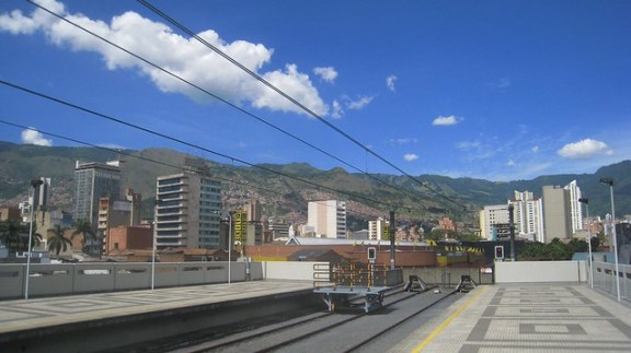 View of Medellin from San Antonio metro station.