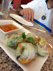 co'm grill - shrimp spring rolls