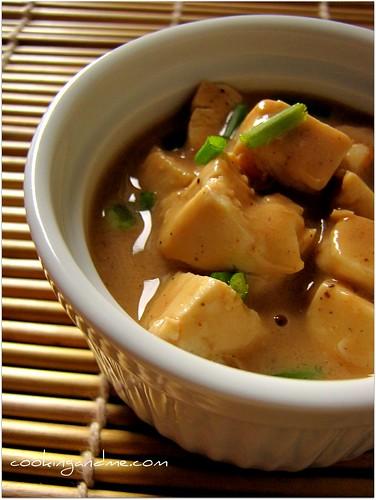 Recipe for Tofu in Peanut Butter Sauce