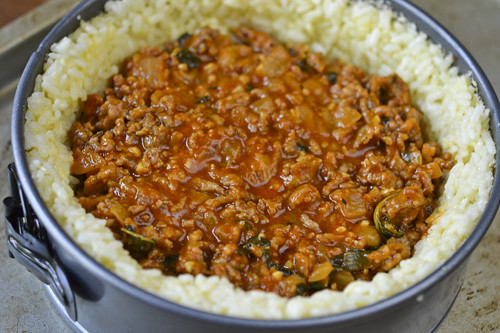Sausage and Rice Timbale