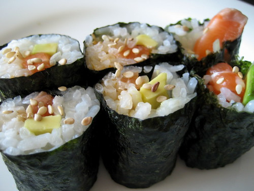 my favorite homemade sushi roll