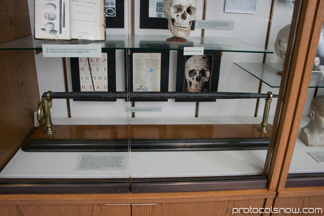 Harvard Medical School Phineas Gage skull nail