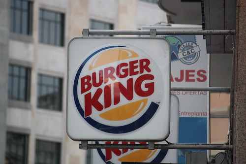 burger king en Gran vía, Madrid