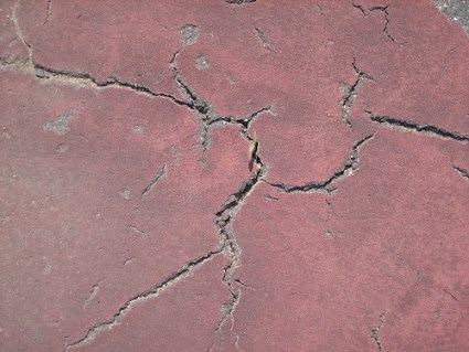 Cracks from Tennis Court - #12