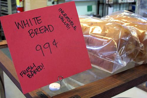 white bread 99cents