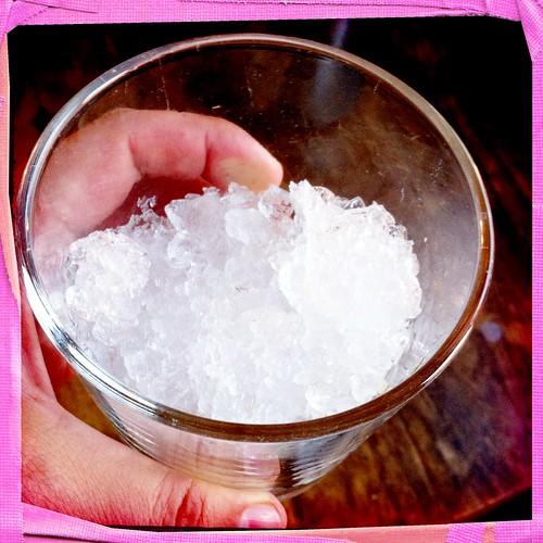 Crushed Ice For A Caipirinha