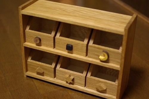 木の小さな棚と箱づくり⑩