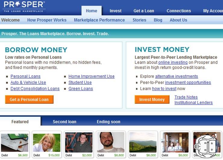 prosper.com argent communautaire prêt