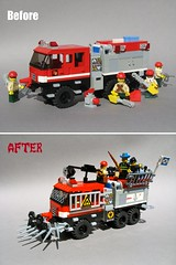 LEGO TATRA S&S Wildland Ultra XT in zombie apocalypse livery