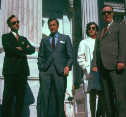 Oceanport Teachers on steps of US Capitol with Rep. James Howard, May 1970