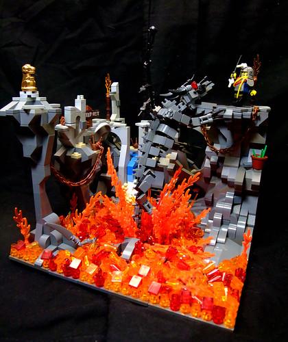 LEGO Kevin Fedde dragon's lair