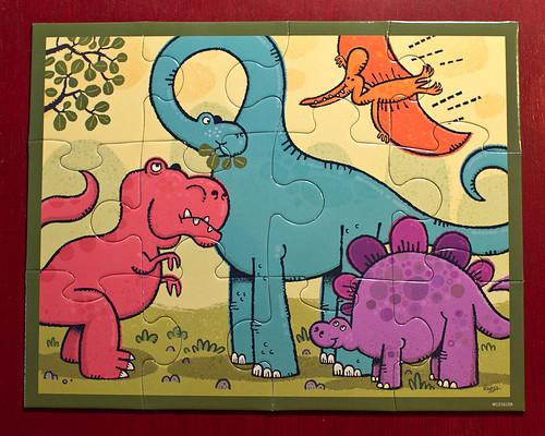 mudpuppy dinosaur puzzle