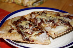 Food Pr0n: Potato and Radicchio Flatbread