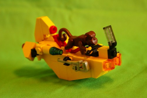LEGO monkey on a speeder bike
