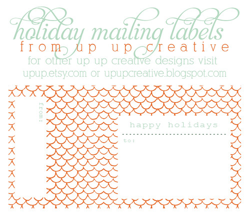 Up Up, The Blog free printable holiday mailing labels - printable address labels free