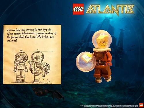LEGO Atlantis diver