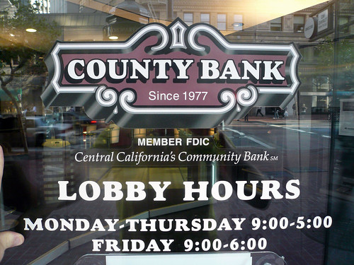FDIC Insured: County Bank