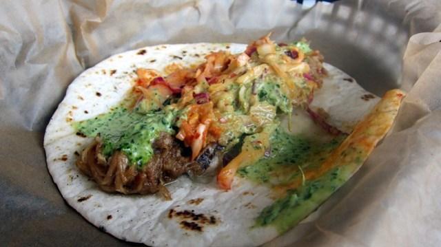 we've got seoul taco at bad dog taqueria