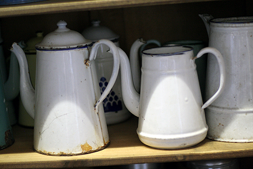 tin coffee pots