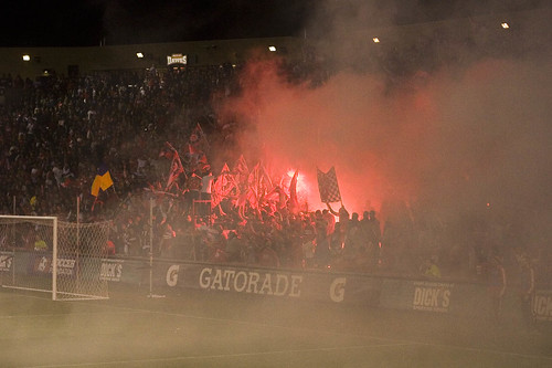 Section 8 in the final minutes...With smoke unfortunately blowing over the field.