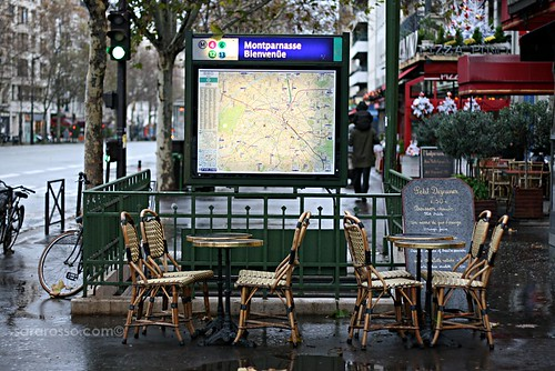 Cafès and the Metro, Paris, France