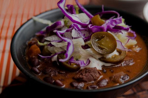 Beef & black bean chili