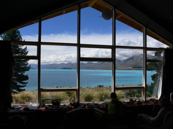 Lake Tekapo YHA New Zealand - view from common room