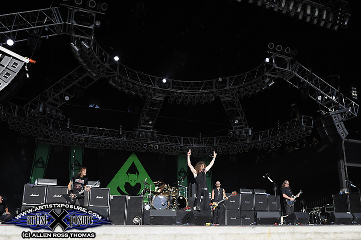Overkill plays on the Rocklahoma main stage