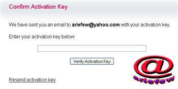 Confirm activation key free domain