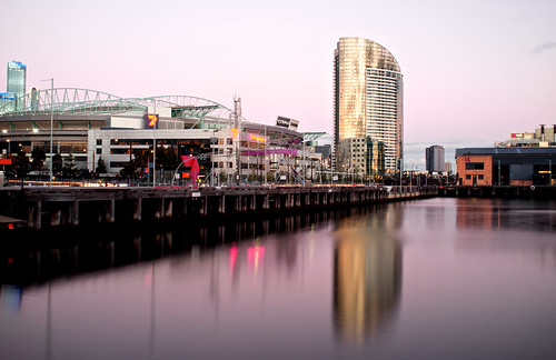 Docklands Stadium on a Friday Night in Melbourne