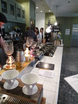 Siphons, pour through and single origin coffee