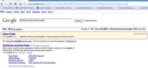 iklan djp - google