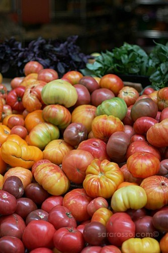 Heirloom tomatoes at the San Francisco Ferry Building Marketplace