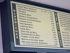 kelly's roast beef - le menu