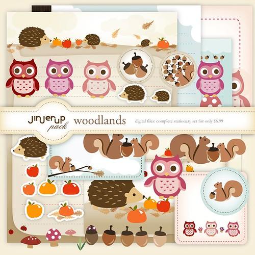 My Owl Barn Jinjerup\u0027s Woodland Stationery