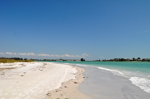 Beach on Little Gasparilla Island, Fla., Only Accessible by Boat