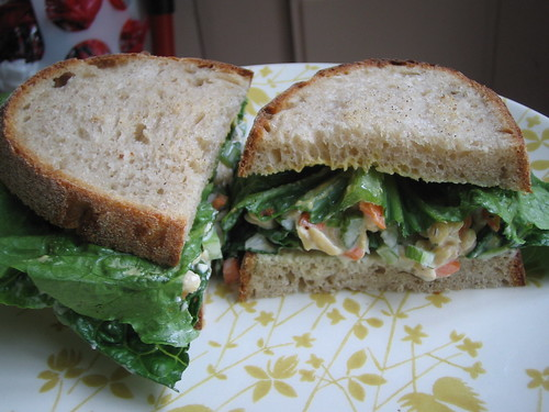 tempeh salad sammich