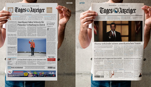 Tages-Anzeiger Redesign Pitch: Before-After