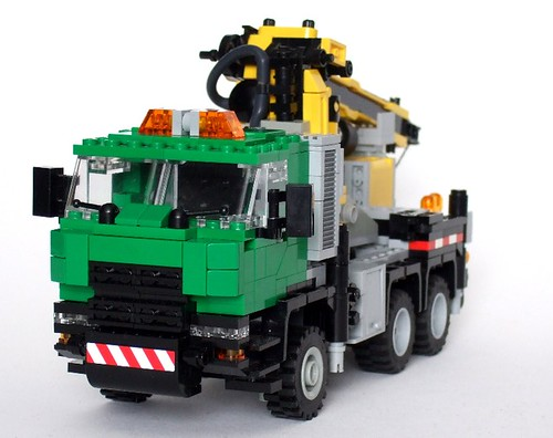 LEGO crane truck