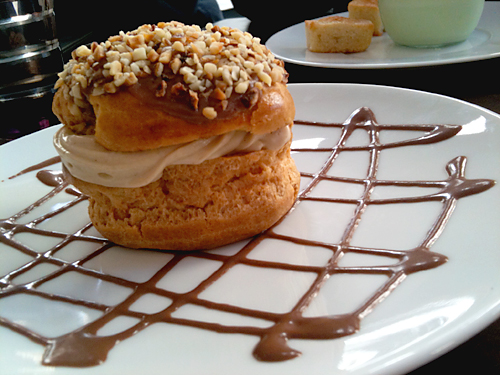 praline filled pastry at Jadis