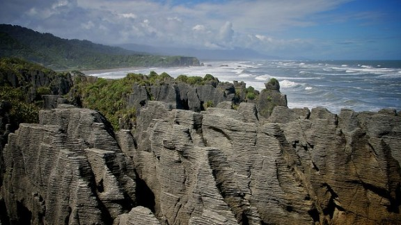 Pancake Rocks, South Island. Photo by matze79 @ Flickr.