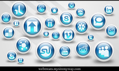 Webtreats 3d Glossy Blue Orbs Social Media Icons